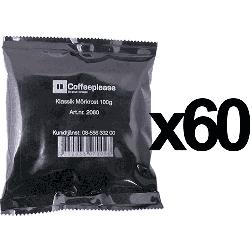 Coffeeplease mørkristet formalet filterkaffe 100g x60
