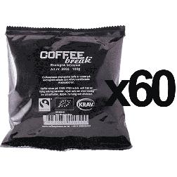 Coffeeplease økologisk mørkristet formalet filterkaffe 100g x60
