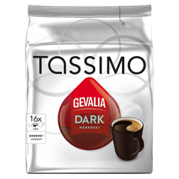 Gevalia Dark Tassimo kaffekapsler 16st x5