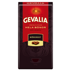Gevalia Mörkrost kaffebønner 500g