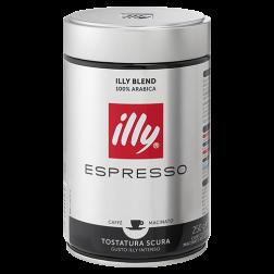 illy Espresso mørkristet formalet kaffe 250g