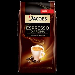 Jacobs Espresso d'Aroma kaffebønner 1000g