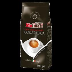 Molinari 100% Arabica kaffebønner 500g utgånget datum