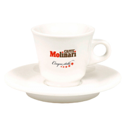 Molinari espressokopper (med underkopper) 6st