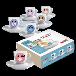 Molinari Emoticons espressokopper (med underkopper) 6st