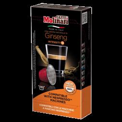 Molinari Ginseng kaffekapsler til Nespresso 10st