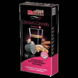 Molinari Zenzero Cannella kaffekapsler til Nespresso 10st
