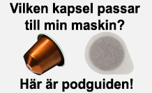 Vilken pod, pad eller kapsel passar till min kaffemaskin?